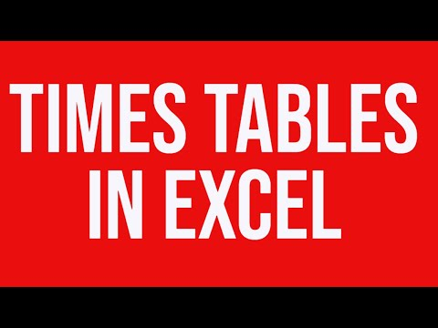 Times tables in MS Excel - YouTube - time table excel