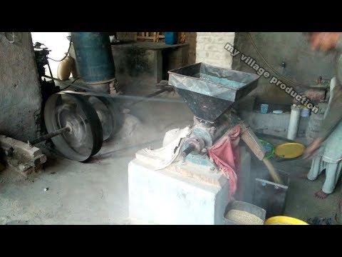 desi old black ruston hornsby engine working technology with chakki atta desi machine in Punjab from YouTube · Duration:  3 minutes 57 seconds