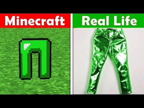 EMERALD PANTS IN REAL LIFE! Minecraft vs Real Life animation CHALLENGE