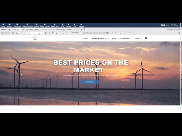 كيفية أنشاء website في ERP system