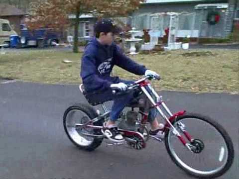 Motorized Bicycle Schwinn Occ Stingray Chopper Youtube
