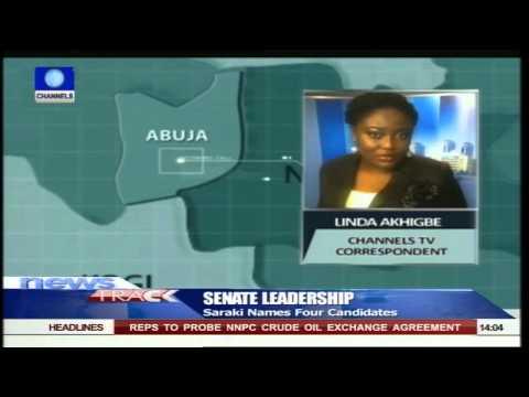 Saraki Names Four Candidates For Senate Leadership 25/06/15