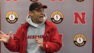 Mike Riley talks after Saturday practice 3/11/17