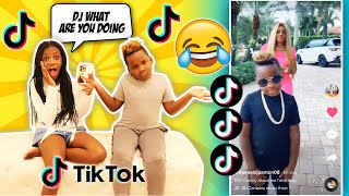 Reacting to my Little brothers Tik Toks (Very Cringy)