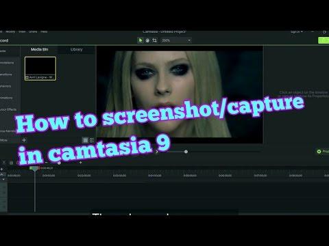 cara screenshot capture di camtasia 9