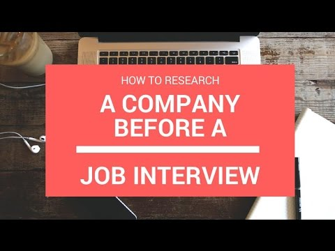 🔥 How To Research a Company Before a Job Interview - YouTube