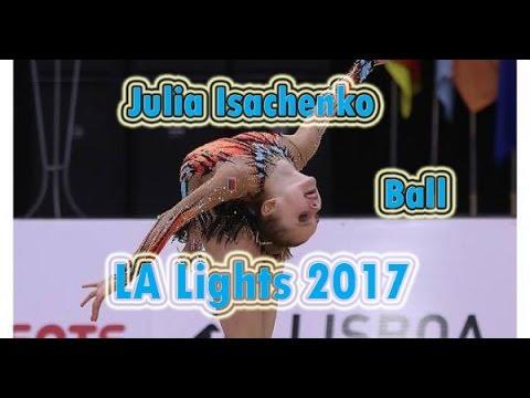 Julia Isachenko ball LA Lights 2017 / Юлия Исаченко мяч