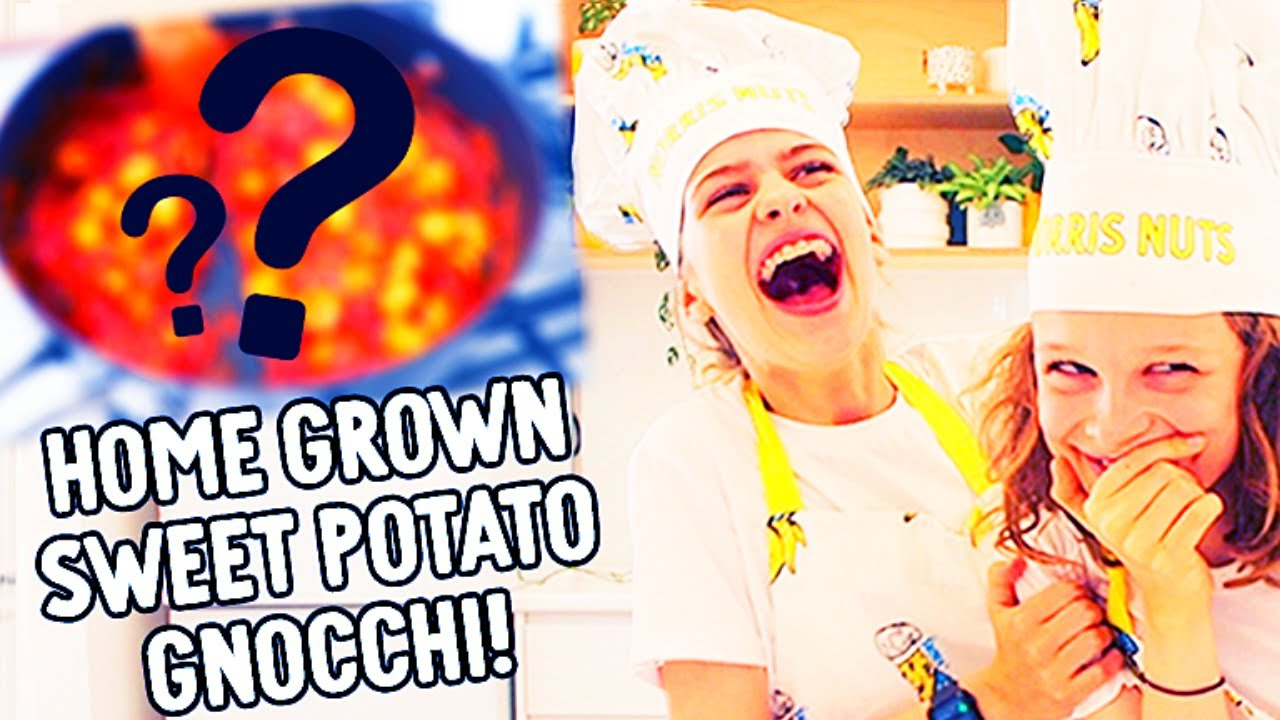 COMEDY AND COOKING w/ Sockie & Biggy making SWEET POTATO GNOCCI (home grown)