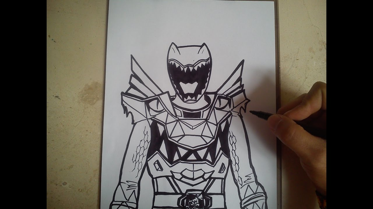 HOW TO DRAW POWER RANGER DINO SUPER