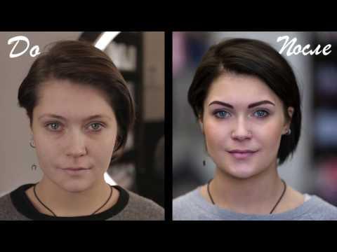 Перманентный макияж бровей методом теневой растушёвки