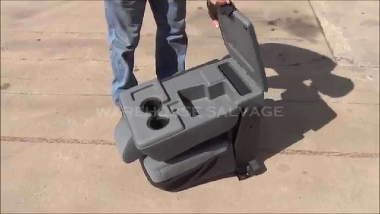 2011 ford super duty sd f250 f350 f450 f550 pickup truck center cloth console jump seat youtube [ 1280 x 720 Pixel ]