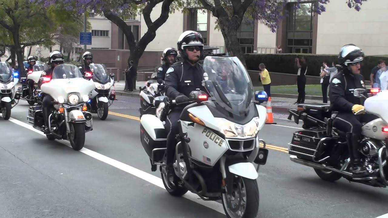 Lapd Motor Ofcr Cortijo Funeral Youtube