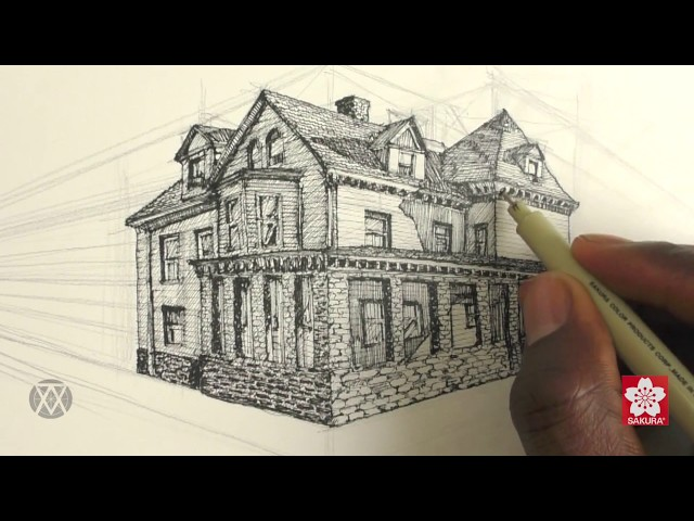 How to Draw Buildings in Perspective with Alphonso Dunn of Learn 2 Draw Everything