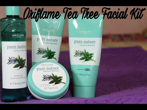 Oriflame// Tea tree and Rosemary facial kit  (oily to combination skin type) //Review and feedback//