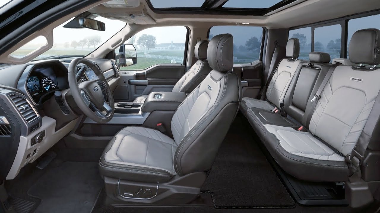 2018 Ford Super Duty Limited Interior Youtube