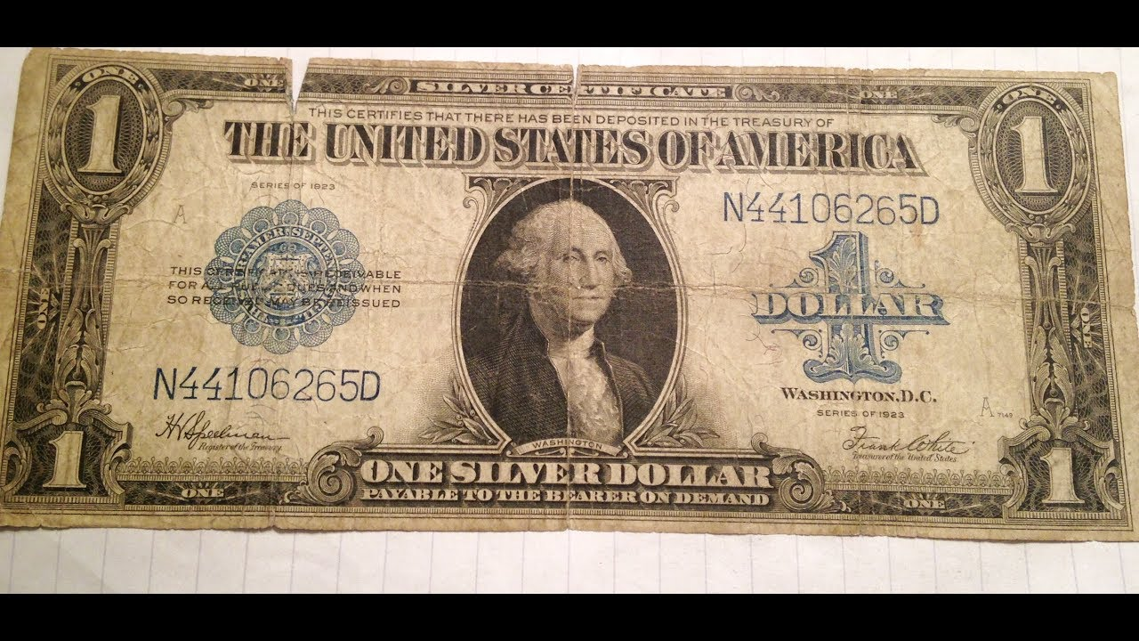 1923 Horse Blanket Silver Certificate Youtube