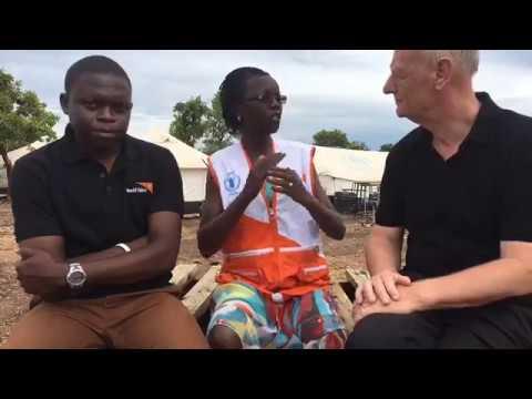 Tim Costello LIVE on Facebook in Bidi Bidi refugee settlement, Uganda