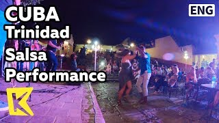 【K】Cuba Travel-Trinidad[쿠바 여행-트리니다드]마요르 광장 살사 공연/Salsa/Dance/Performance/Casa de la Musica