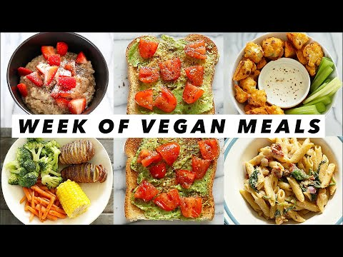 WHAT I EAT IN A WEEK (VEGAN) ➟ easy meals! 🥑