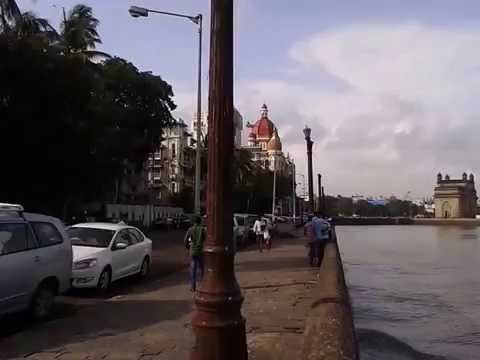 Arabian Sea Waves at Gateway of India , Mumbai
