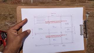 30 × 40 North face house plan markout in kannada