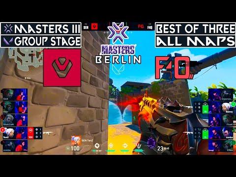 REMATCH! SENTINELS vs F4Q   ALL MAPS   VALORANT MASTERS BERLIN