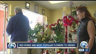 Red roses are most popular flowers to order