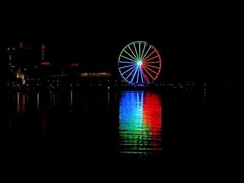 Capital Wheel nighttime light show - National Harbor, Maryland