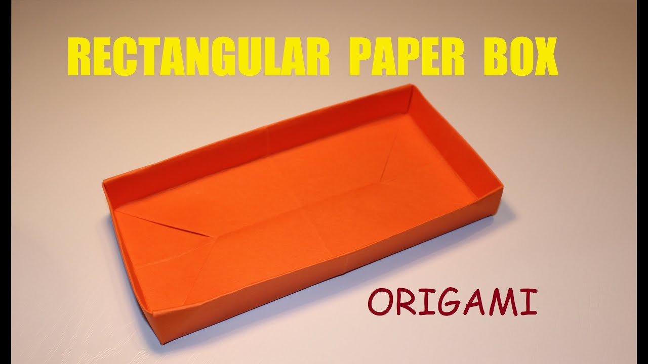 How to make a rectangular paper box - Origami DIY - YouTube