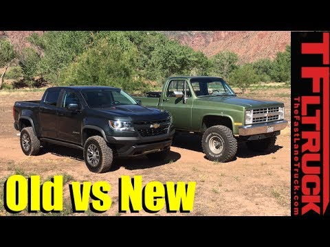 Old Vs New Off Road Technology Review 2017 Chevy Colorado Zr2 Vs