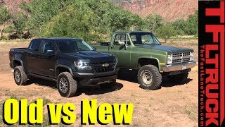 Old vs New Off-Road Technology Review: 2017 Chevy Colorado ZR2 vs Big Green