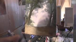 Пара в лесу живопись маслом МК Игоря Сахарова