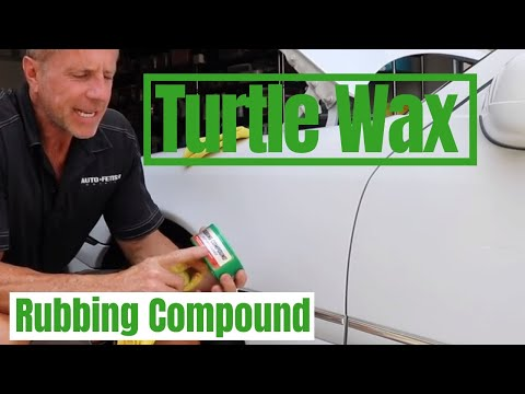 Turtle Wax Rubbing Compound: Removing Car Paint Scratches