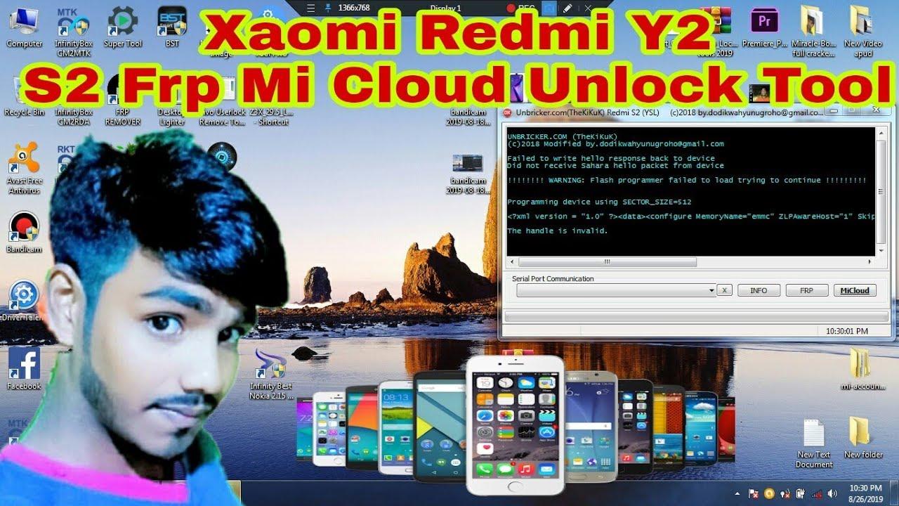 Xaomi Redmi Y2 S2 Frp Mi Cloud UnlockTool!আনলক