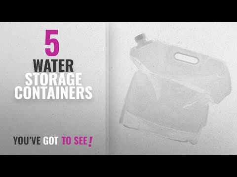 Top 10 Water Storage Containers [2018]: Generic Folding 10L PE Drinking Water Bag Pouch Container