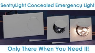 goodmart s concealed emergency light by sentrylight sylvania only there when you need it