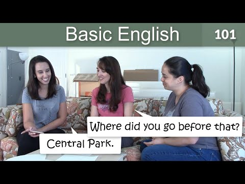 Lesson 101 ?????Basic English with Jennifer - Simple Past in Conversation