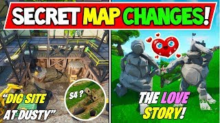 "*NEW* FORTNITE SECRET MAP CHANGES ""DUSTY DIG SITE"" + ""STONE STATUES LOVE STORY"" + Season 8 Storyline"