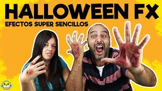🎃4 MAQUILLAJES FX SUPER SENCILLOS PARA HALLOWEEN!! HALLOWEEN EASY MAKE UP FX
