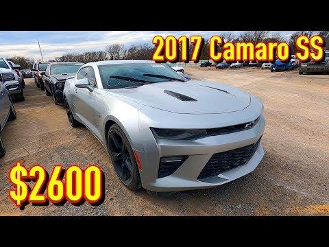 Copart Walk Around 2-6-2020 + Carnage + 2017 Camaro SS $2600