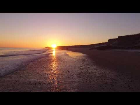 Happisburgh sunrise from above DJI PHANTOM 3A - NORFOLK