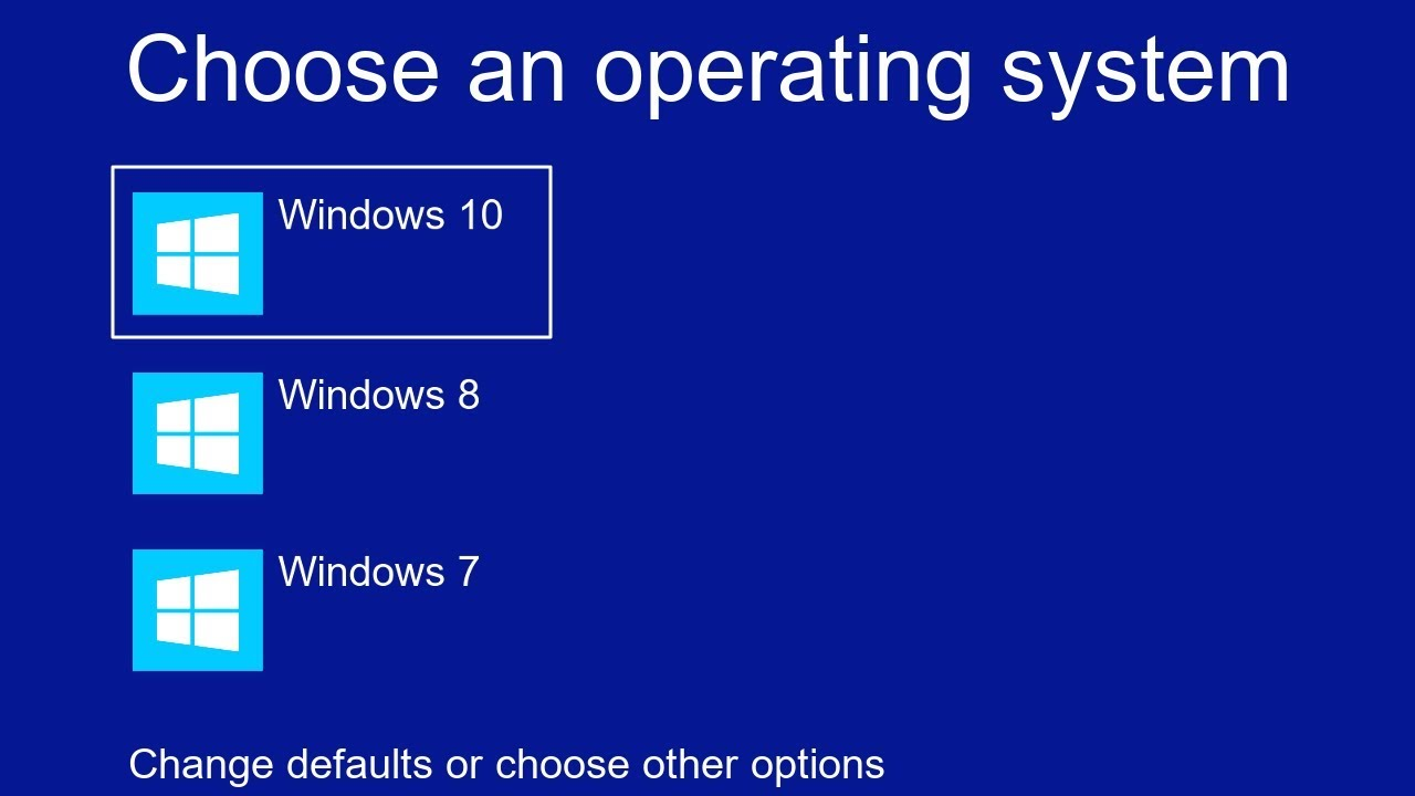 How to Disable Choose an operating system at start up on windows 26