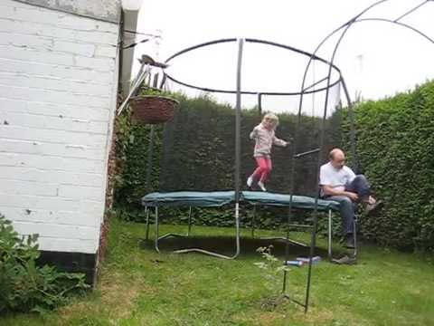 Asda Jumpking 10ft Trampoline Assembly And First Bounce Timelapse