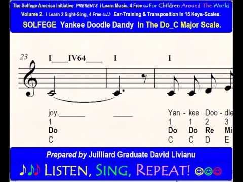 Solfege Yankee Doodle Dandy In The Doc Major Scale Sight Singing