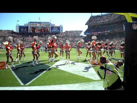 "Denver Broncos Cheerleaders perform ""Giddy on Up"""