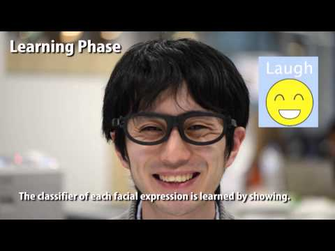 Affective Wear: Toward Recognizing Facial Expressions