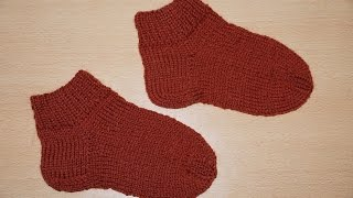 Вязание спицами для начинающих. Носки на 5 спицах  /////  Knitting for beginners. Socks 5 spokes(Будь в курсе новых видео, подписывайся на мой канал ▻http://www.youtube.com/user/hobby24rukodelie?sub_confirmation=1 Вязание спицами..., 2014-11-12T07:37:02.000Z)