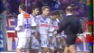 Résumé Caen -  Lyon saison 94-95 J25