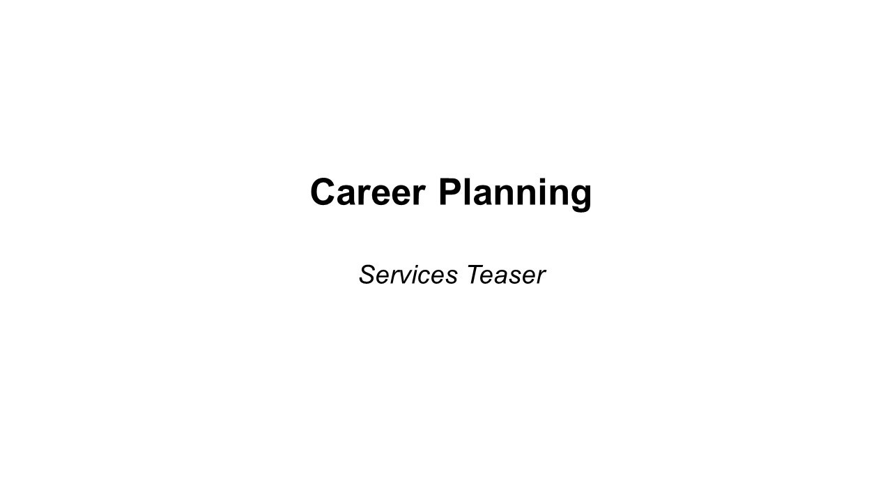 Career Planning Teaser