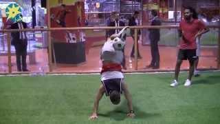 شاهد بالفيديو : دبشه بطل مصر فى الفرى ستايل وتحكم مذهل فى الكرة